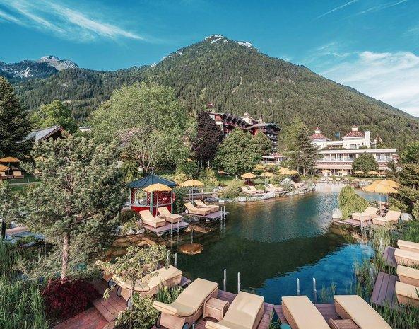 Alpenrose Garten mit See