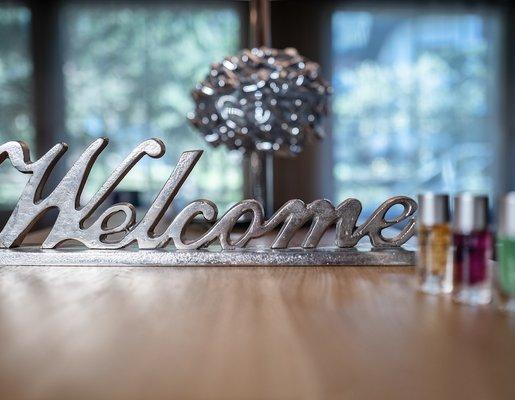 Welcome Schild